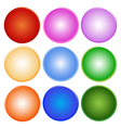 Colorful Set of Shiny Circle Label vector image vector image
