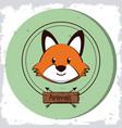 cute wolf cartoon vector image vector image