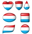 Dutch Flag in various shape glossy button vector image vector image