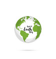 earth daysave the earth concept vector image