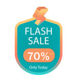flash sale 70 off only today image vector image vector image