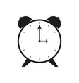 flat clock sign black icon vector image vector image