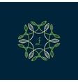 floral pattern frame vector image