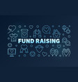 fund raising blue line on dark vector image vector image