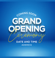 grand opening ceremony poster concept invitation vector image vector image