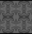 grey seamless psychedelic geometrcial spiral vector image vector image