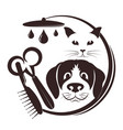 hairdresser for pets vector image vector image