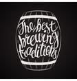 hand drawn lettering for with barrel beer vector image vector image