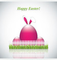 happy easter greeting card with rabbit ears vector image vector image