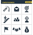 Icons set premium quality of startup business and vector image