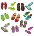 isolated footwear vector image