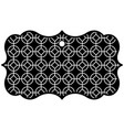 label classic rounded and rhombus style pattern vector image