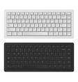 laptop keyboard white and black keyboard vector image vector image