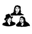 michael jackson sketch black vector image vector image