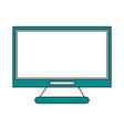 monitor flat vector image vector image