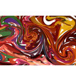 multi red hand drawn artwork on water marble vector image