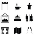 museum icon set vector image