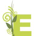 nature E vector image vector image