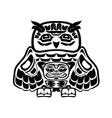North american native art owl vector image vector image