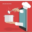 Online dishes recipes concept vector image