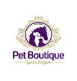 pet boutique logo template vector image
