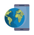 phone digital world vector image