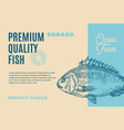 premium quality dorado abstract fish vector image vector image