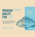 premium quality dorado abstract fish vector image
