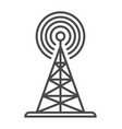 radio broadcasting tower linear icon vector image vector image