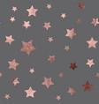 rose gold christmas glitter sparkles stars vector image vector image