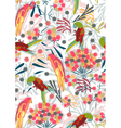 seamless background with colorful birds vector image vector image