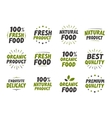 set labels Organic food tags and elements vector image