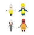 Set of construction team members vector image vector image