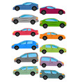 set of different car types vector image vector image