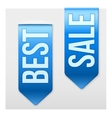 Set of Popular Ribbons BEST and SALE Realistic vector image