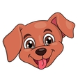 Smiling little puppy head 2 vector image vector image