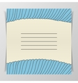 Striped blue wave Cover for Notebook vector image