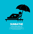 Sunbathe Black Graphic vector image vector image
