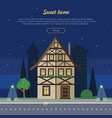 sweet home flat web banner vector image