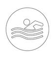 swim icon design vector image