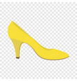 yellow woman shoe icon flat style vector image