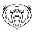 Roaring bear icon isolated on a white background vector image
