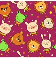 background with animals vector image