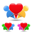 Icons of a happy couple vector image