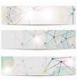 Set of templates business scientific banners vector image