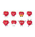 happy strawberry cartoon character vector image