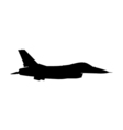 Military aircraft silhouette vector image