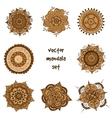 tattoo henna mandala set vector image