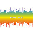 3d rainbow pulse music player on white audio vector image vector image