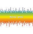 3d rainbow pulse music player on white audio vector image